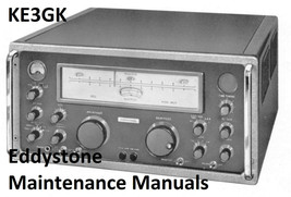 Eddystone Maintenance and Instruction Manuals - $9.99