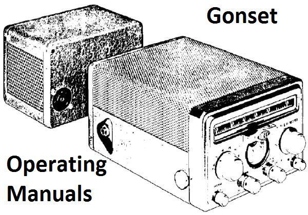 Gonset Operating Manuals on CD