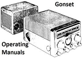 Gonset Operating Manuals on CD - $7.99