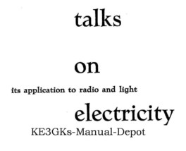 Talks on Electricity 1955 * CDROM * PDF - $8.99