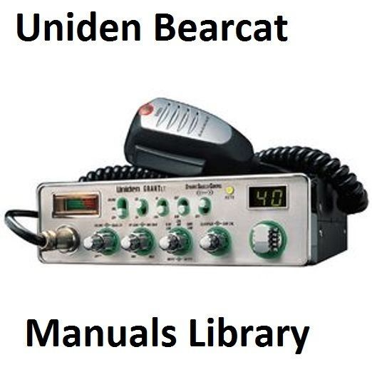 Uniden Bearcat Service & Instruction Manual Library