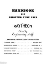 Handbook of Amateur Tube Uses - Raytheon - $7.99