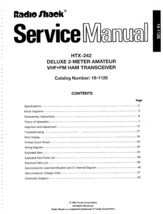 Radio Shack HTX-242 Service and Owners Manual * CDROM * PDF - $8.99