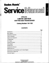 Radio Shack HTX-212 Service and Owners Manual * CDROM * PDF - $8.99