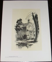 Fine Original 1922 print of an Old Shop,in Litchfield, Ct  by  O.R. Eggers - $13.24