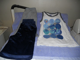 3 pc lot set tank 2 shorts old navy starter boys xl xlarge vgc - $9.95