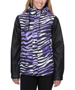 Aperture Fakie Zebra Jacket Women Snowboard Ski 10k Waterproof Insulate ... - $108.06