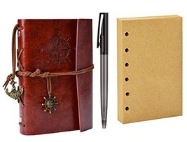 Journal Notebook, Coxeer Leather Writing Sketchbook Vintage Daily Notepa... - $12.57