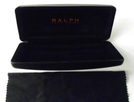 Ralph Lauren Eye Glasses Sunglasses Hard Case Box Black with Cleaning Cloth - $14.84