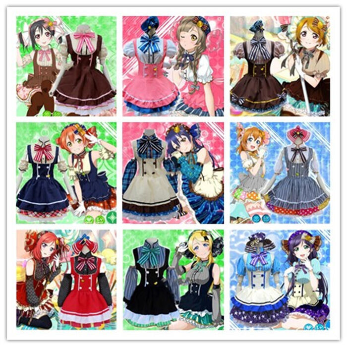 Lovelive! Love Live! Candy Cosplay Costume Maidservant Uniform Maid Lolita Dress