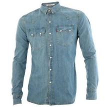 Levi's Men Classic Long Sleeve Denim Button Up Casual Dress Shirt 81004