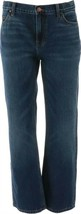 Lands' End Boys Husky Iron Knee Relaxed Fit Rinse Wash Denim 14 NEW 486225 - $20.77