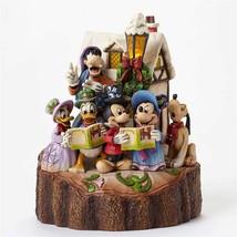 """Jim Shore """"Holiday Harmony"""" Mickey, Pluto, Donald Duck- Disney Traditions 7.25"""""""