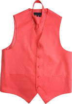 Men's Solid Color Adjustable Dress Vest & Neck Tie Set for Suit or Tuxedo image 5