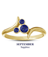 925 Silver 14k Yellow Gold Blue Sapphire September BirthStone Mickey Mou... - $25.99
