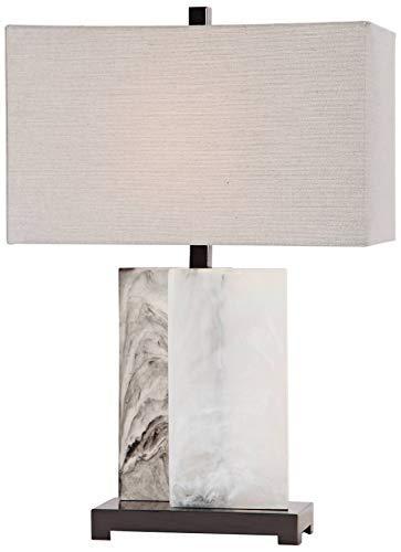 Uttermost Vanda White Rectangular Slabs Table Lamp