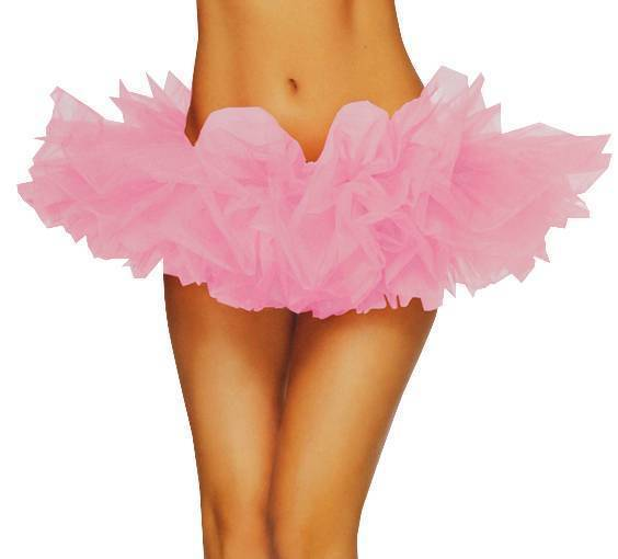 NEW LEG AVENUE WOMEN'S SEXY TUTU BALLET DANCE SKIRT A1705 ONE SIZE PINK