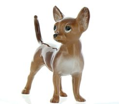 Hagen Renaker Pedigree Dog Chihuahua Large Brown and White Ceramic Figurine image 5