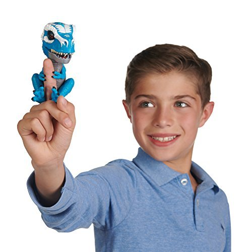 WowWee Untamed T-Rex by Fingerlings Ironjaw Blue -Interactive Collectible Dinosa