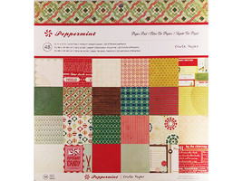 Crate Paper Peppermint Cardstock Paper Pad, 48 Sheets #683045