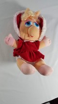 "1987 Muppets Baby  MISS PIGGY Christmas  Plush, 10"" Jim Henson - $11.88"
