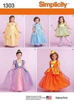SIMPLICITY 1303 TOODLER / GIRLS' PRINCESS, FAIRY, WITCH COSTUMES (SIZE 3... - $13.48