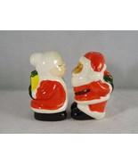 Greebrier Ceramic Mr. & Mrs. Santa Claus Salt & Pepper Shakers -- New - $7.59