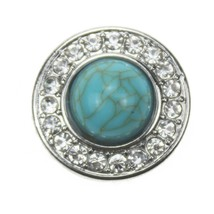 10pcs/lot Snap Jewelry Pearl Rhinestone 18mm Snap Buttons Vintage Metal Snap pre - $10.64