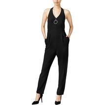 Bar III Womens Open-Back Two-Pocket Halter Jumpsuit XS Deep Black $89- - $14.13