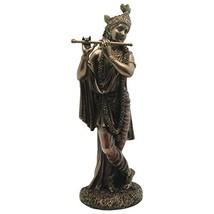 "Top Collection 10"" Krishna Statue in Cold Cast Bronze - Hindu God of Lov... - $76.25"