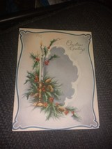 Candle Pine Branches Candlestick Vintage Christmas Card - €2,77 EUR