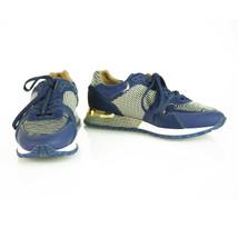 Louis Vuitton Run Away Blue Epi Calfskin Textile Sneakers w/ calf skin fur 36,5 - $543.51
