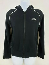 The North Face Women's Black Track Jacket Full Zip Hoodie Size M - $43.55