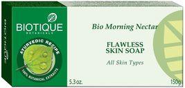 Biotique BIO MORNING NECTAR SKIN SOAP FLAWLESS SKIN SOAP 75 gms  & 150 gms image 3