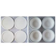 Corelle Country Cottage Cereal Soup Bowls 10 oz Set 4 + Storage Lids By ... - $35.33