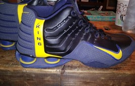 Men's Black/Blue/Yellow Nike Shox Running shoes size 11.5 Kings Mint See... - £92.98 GBP