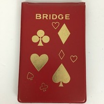 VTG Schlesinger's Contract Bridge Red Tally Score Pad And Rules Vinyl Ho... - $9.86