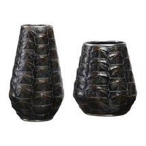 Uttermost 2-Pc Tortoise Shell Vase Set - $195.80