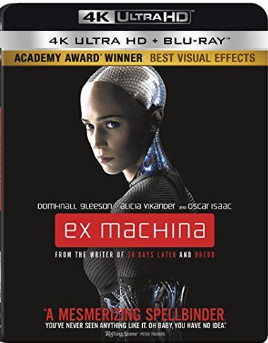 Ex Machina [4K Ultra HD + Blu-ray, 2016]