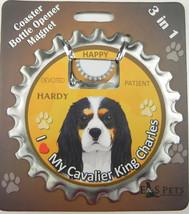 Cavalier (tri) dog coaster magnet bottle opener Bottle Ninjas magnetic - $9.95