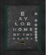 "Baylor Bears 13x16 College ""Chalkboard Look Eye Chart"" Framed Print - $39.95"