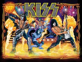 KISS Band 24 x 32 Pinball Stage Shot Reproduction Poster - Rock Collecti... - $45.00