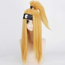 NARUTO Cosplay Wigs Deidara Akatsuki Halloween Party Stage Play Yellow Long - $38.01
