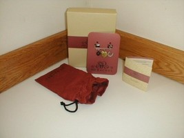 Longaberger So Rachel Scion Pin with Charms Heart Locket New In Box and Bag - $15.79