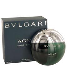 Bvlgari Aqua Pour Homme 3.4 Oz Eau De Toilette Cologne Spray image 1
