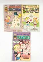Lot of 3 Richie Rich Comics #18 June 1975, #22 Jan 1976, #18 July 1977 - $7.43
