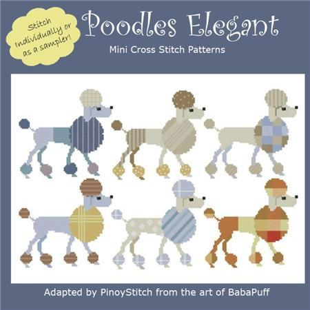 Primary image for Poodles Elegant dog cross stitch chart Pinoy Stitch