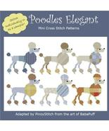 Poodles Elegant dog cross stitch chart Pinoy Stitch - $11.70