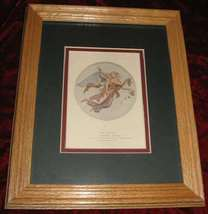 Morning Angel Engraving Art Print Framed Roffe Thorwaldsen - $15.00