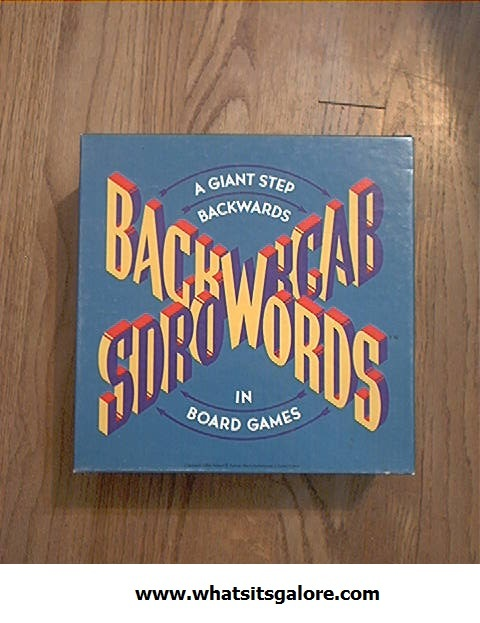 BACKWORDS party game/boardgame